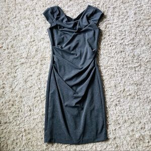 WHITE HOUSE BLACK MARKET • Draped Dress • Grey